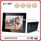 9.7 inch ABS /Light Sensor Sharp Digital Photo Frame