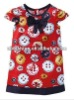 Red spot baby bow girls dress