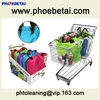 Eco-friendly shopping bag with hook on shipping card