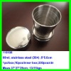 2012 The most popular stainless steel foldable travel collapsible cup