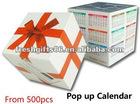 2013 Pop Up Calendar, MOQ is 500pcs