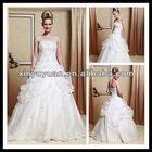 Lovely Little Women A-line Strapless Beaded Organza Ruffle Wedding Dress XYY-k15