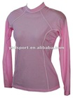 Ladies' Pink Long Sleeve High Quality Sports Rush Guard