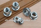 DIN934 hex flange nut good quality