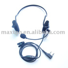 two way radio walkie talkie light duty Headset earpiece with boom mic