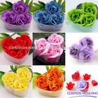 Bath Body Soap Rose Petal Flower Gift Party Wedding Decoration Favor Hear