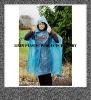 Plastic disposable rain poncho