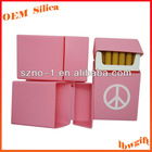 Standard Size for 20 pieces Soft hand feel customized silicon cigarette pack case