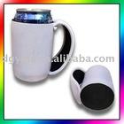 Neoprene cooler, Stubby holder, Beer koozie, can cooler with handle