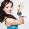 fashion accessory belly dance bracelet with ring for wholesale