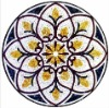 mix-colored mosaic tile