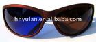 Blue and Brown Plastic Framed 3d Glasses