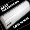 Commercial air curtains without heating