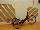 recumbent trike bicycle road type with three wheels