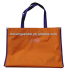 420D nylon large foldable reusable shopping bag with custom size and logo