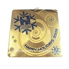 Brass Christmas ornament charm pendant with 1 color printing