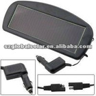 Solar car battery charger with CLA plug and charging indication lights