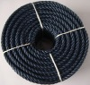 Black polyester multifilament rope