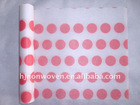 Big red dots non-woven fabrics wrapping paper for flowers and gifts