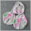 100 silk floral print ladies cheap scarves