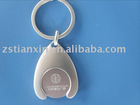 Euro Coin holder keychain/alloy coin key chain/metal coin key holder