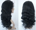 stock fashion wholesale 1# 18 inch with baby hair bleach knot brazilian curly full lace wig