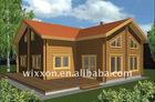 Impressive big living wooden villa house
