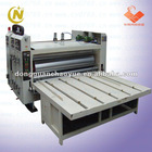 Printing machine with slotting