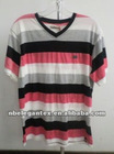 fashional yarn dyed striped men's t shirt