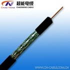 BC AWG Conductor,PE Insulated,AL foil Sheild+BC/TC Braiding,PVC/PE Jacket,RG coaxial cable