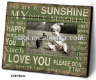 Antique Shabby Green Wooden Photo Frame With Words