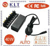 40W universal laptop power adapter with LCD display and USB port
