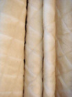 Faux fur beige blanket throw