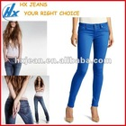 Women Slim fitting colored jegging neon blue