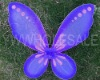 girls purple color butterfly wings angel wings