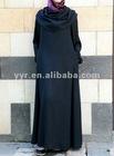 2012 Fashion maxi women casual Cowl Neck Abaya dress