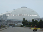 design steel structure warehouse with galvanized steel roof for coal storage