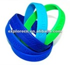 Debossed silicone rubber bracelets/wristband