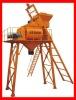 High capacity pneumatic concrete mixer