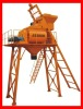 High capacity pneumatic concrete mixer