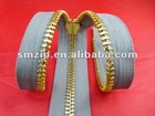 #5 gold metal zipper with Normal-type teeth(garment/bag accessory)