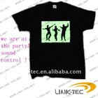 hot and popular sound control EL T-shirt for party gift