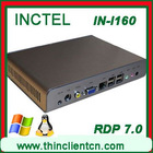 Fanless mini pc with Remote FX RDP 7.0 XRDP VDI VNC XICA NETTCRDP supported 32 bit Intel N270 1.6Ghz Embeded pc Industrial pc