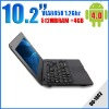 10.2inch Mini Laptop OS Android 4.0 512MB 4GB RJ45 Wifi camera 3G HDMI Three color option
