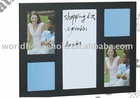 2011 latest style magnetic white board wooden memo board