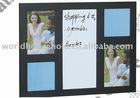 2011 latest style magnetic white board wooden memo board