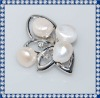 Nice Natural White 10mm Pearl Brooch BR261