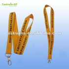 Yellow smooth eco friendly printed lanyard