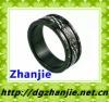 41002 high class diamond titanium rings for wedding