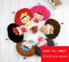 Winter Knitted Gloves Cute Cartoon Girl Design